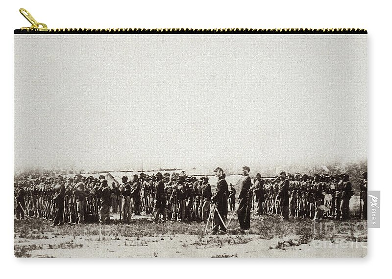 1862 Carry-all Pouch featuring the photograph 1st U.s. Colored Infantry by Granger