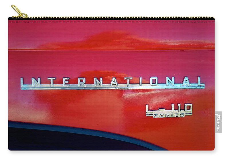 1950 Carry-all Pouch featuring the photograph 1950 International L-100 by Mark Dodd