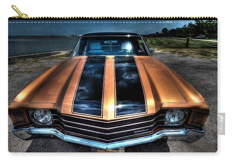 1972 Chevrolet Chevelle Carry-all Pouch featuring the photograph 1972 Chevelle by David Morefield