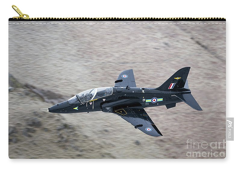 Wales Carry-all Pouch featuring the photograph A Hawk Jet Trainer Aircraft by Andrew Chittock
