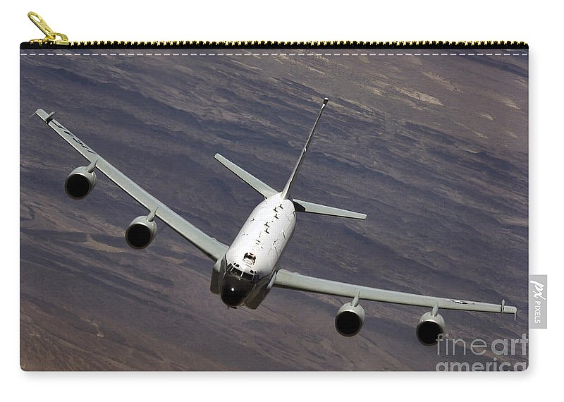 Aerial Carry-all Pouch featuring the photograph A U.s. Air Force Rc-135 Rivet Joint by Stocktrek Images