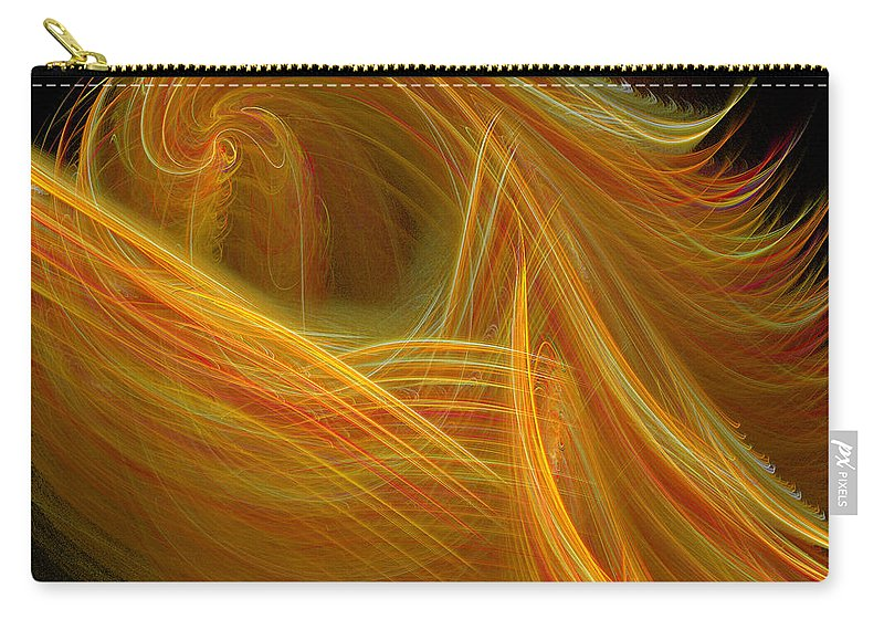Fractal Digital Origin Carry-all Pouch featuring the photograph Abstract 100 by Mike Nellums