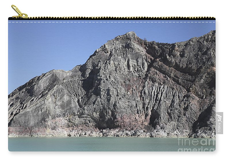 Java Carry-all Pouch featuring the photograph Acidic Crater Lake, Kawah Ijen Volcano by Richard Roscoe