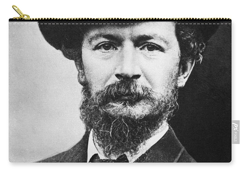 19th Century Carry-all Pouch featuring the photograph Algernon C. Swinburne by Granger