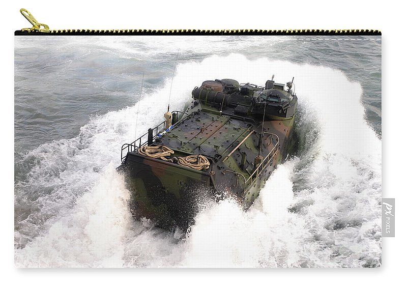 Aav Carry-all Pouch featuring the photograph An Amphibious Assault Vehicle by Stocktrek Images