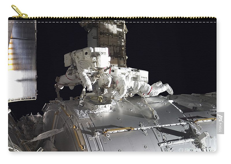 Adults Only Carry-all Pouch featuring the photograph Astronauts Participate by Stocktrek Images