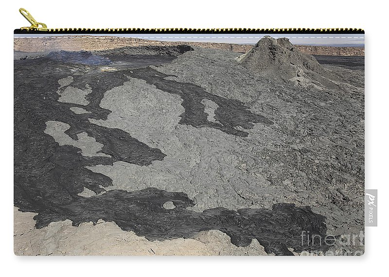 Hornito Carry-all Pouch featuring the photograph Basaltic Lava Flow From Pit Crater by Richard Roscoe