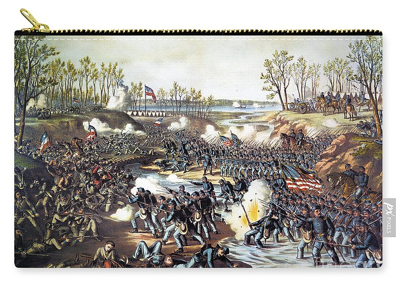1862 Carry-all Pouch featuring the photograph Battle Of Shiloh, 1862 by Granger