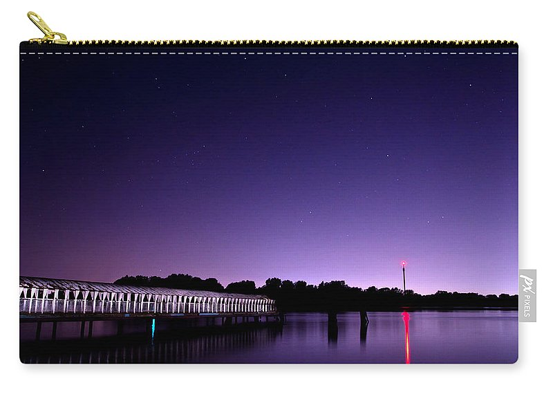 Night Carry-all Pouch featuring the photograph Boblo Dock by Cale Best