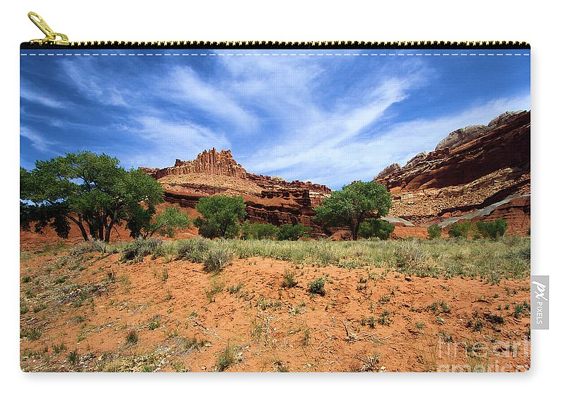 Capitol Reef National Park Carry-all Pouch featuring the photograph Capitol Reef Castle by Adam Jewell