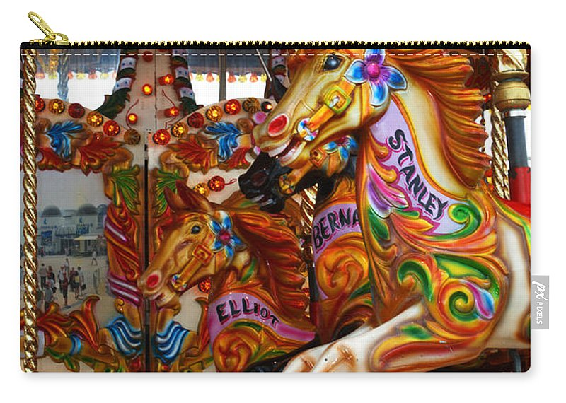 Carousel Carry-all Pouch featuring the photograph Carousel by Chris Day