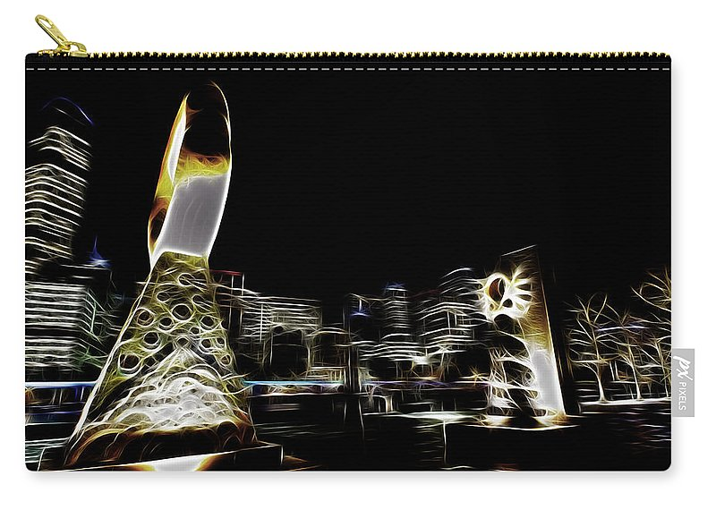 Riverside Carry-all Pouch featuring the photograph City Lights by Douglas Barnard