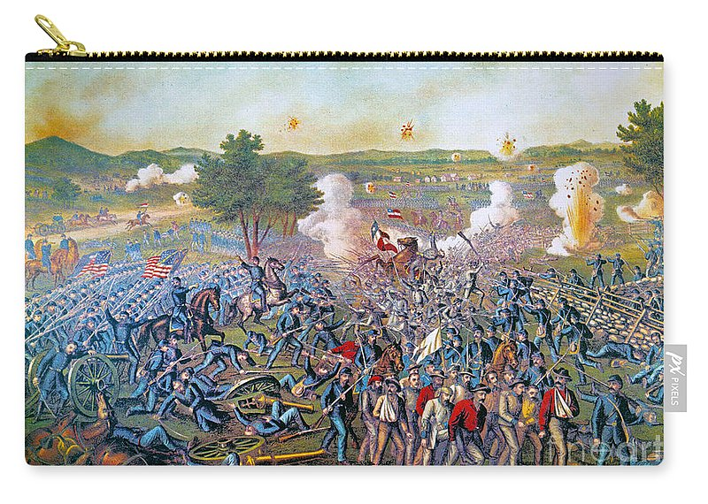 1863 Carry-all Pouch featuring the photograph Civil War: Gettysburg, 1863 by Granger