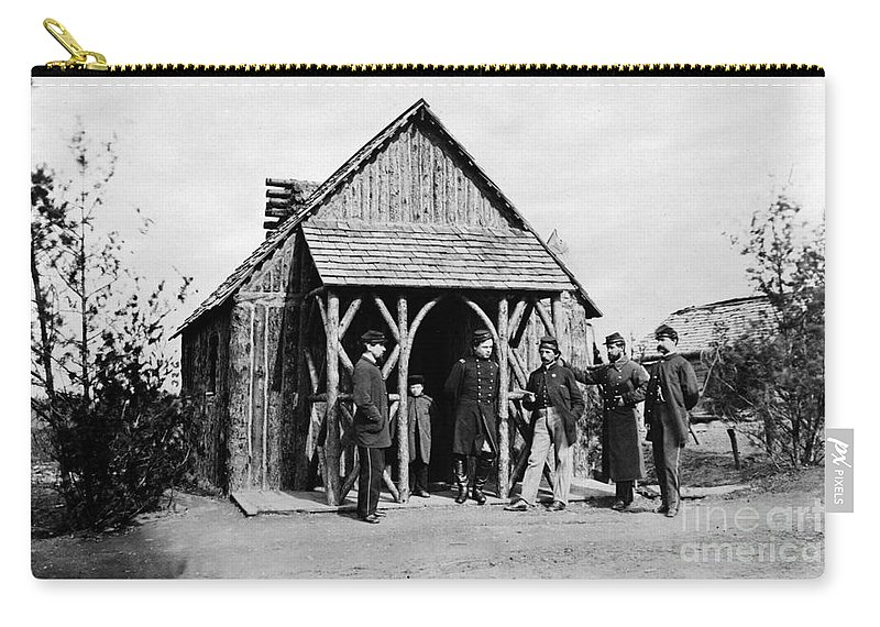 1860s Carry-all Pouch featuring the photograph Civil War: Union Officers by Granger