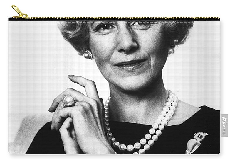 1963 Carry-all Pouch featuring the photograph Clare Boothe Luce (1903-1987) by Granger