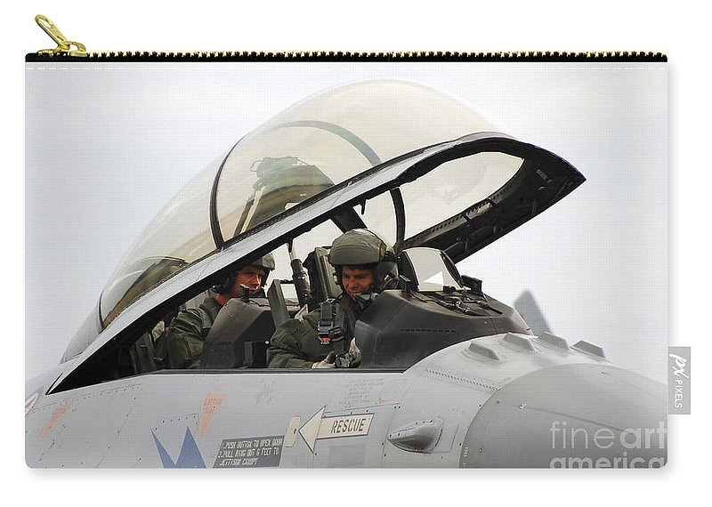 Cockpit Of A Norwegian F16 Carry-all Pouch