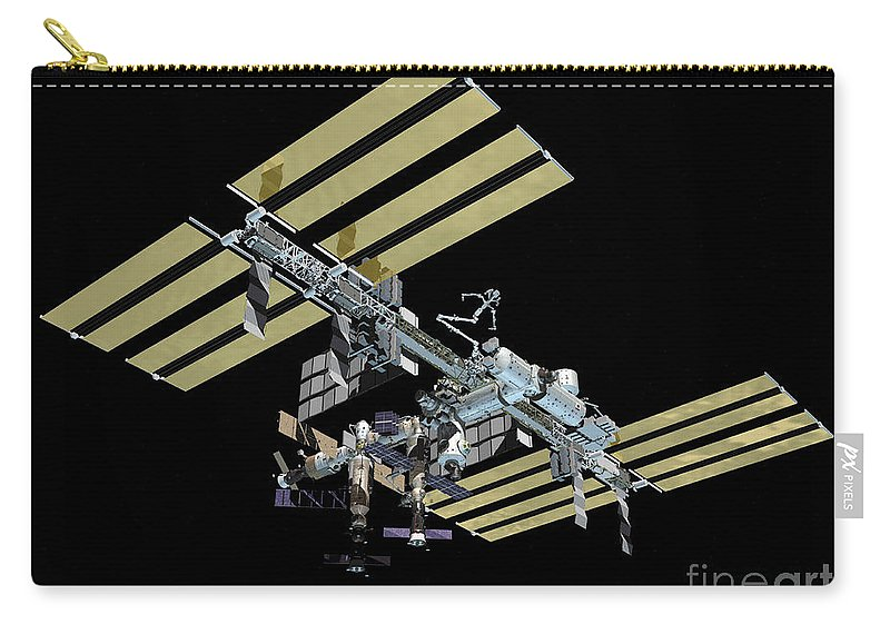 Color Image Carry-all Pouch featuring the digital art Computer Generated View by Stocktrek Images