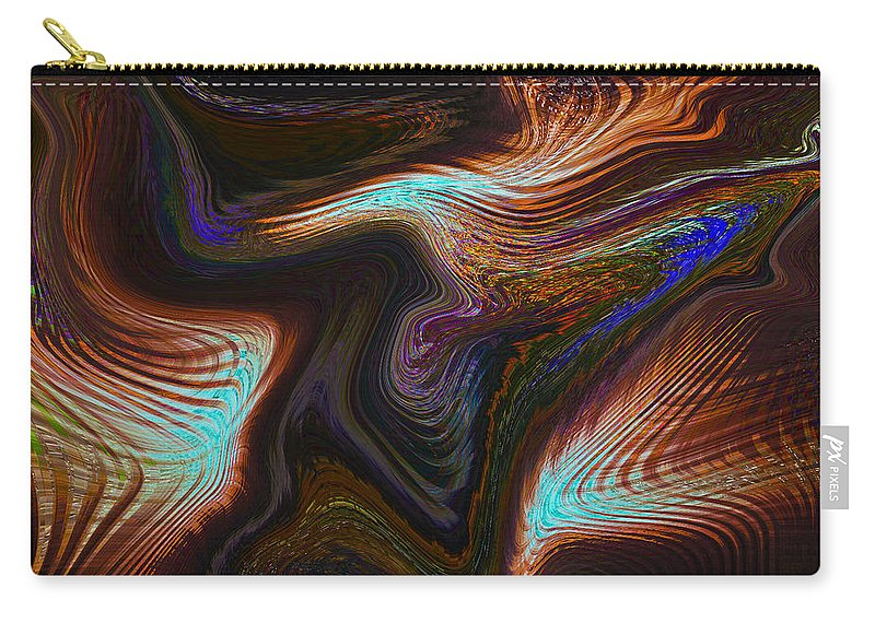 Digital Carry-all Pouch featuring the digital art Digital Abstract by David Pyatt