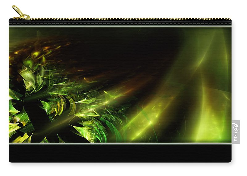 Fractal Art Carry-all Pouch featuring the digital art Dragon's Tail by Adam Vance