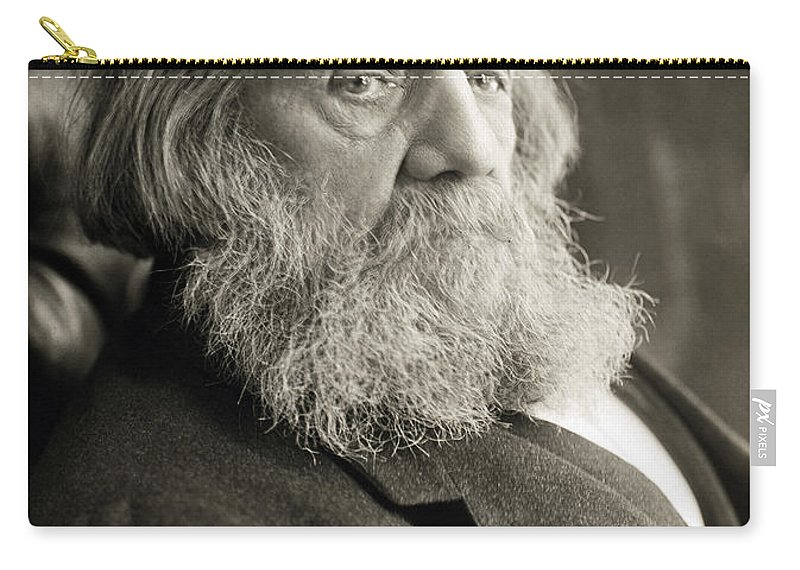 19th Century Carry-all Pouch featuring the photograph Edward Everett Hale by Granger