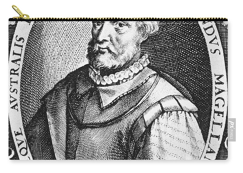 15th Century Carry-all Pouch featuring the photograph Ferdinand Magellan by Granger