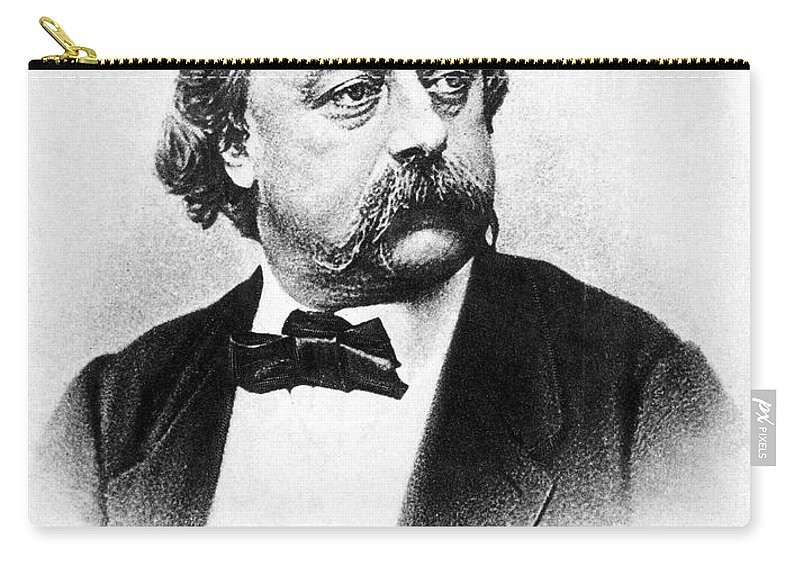 19th Century Carry-all Pouch featuring the photograph Gustave Flaubert (1821-1880) by Granger