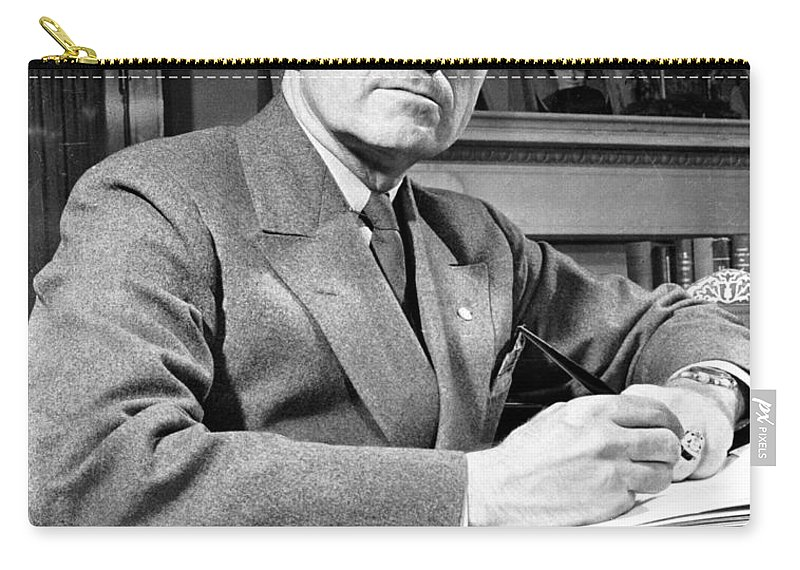 20th Century Carry-all Pouch featuring the photograph Harry S. Truman by Granger