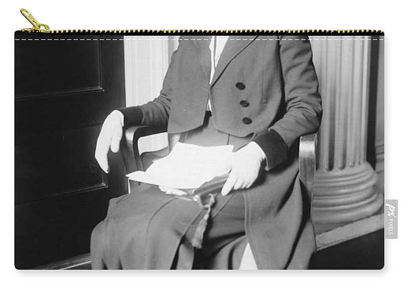 1917 Carry-all Pouch featuring the photograph Ida M. Tarbell (1857-1944) by Granger