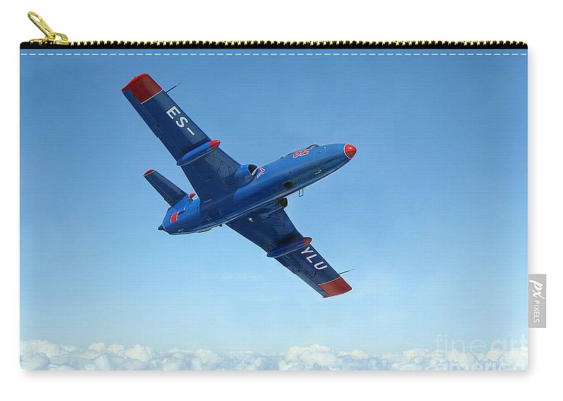 Transportation Carry-all Pouch featuring the photograph L-29 Delfin Standard Jet Trainer by Daniel Karlsson