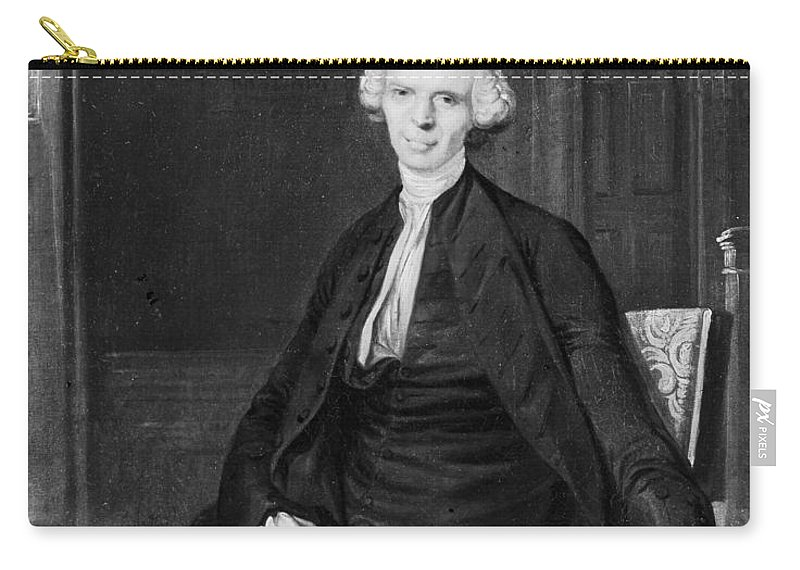 18th Century Carry-all Pouch featuring the photograph Laurence Sterne (1713-1768) by Granger