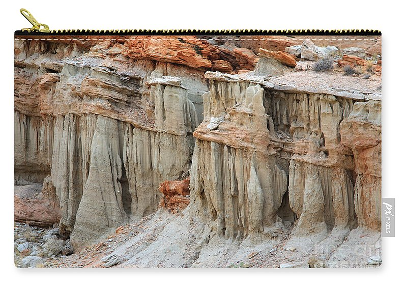 Nature Carry-all Pouch featuring the photograph Layers Of Time by Bob Christopher