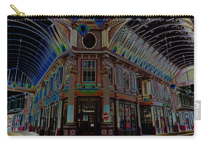 Leadenhall Carry-all Pouch featuring the digital art Leadenhall Market London by David Pyatt