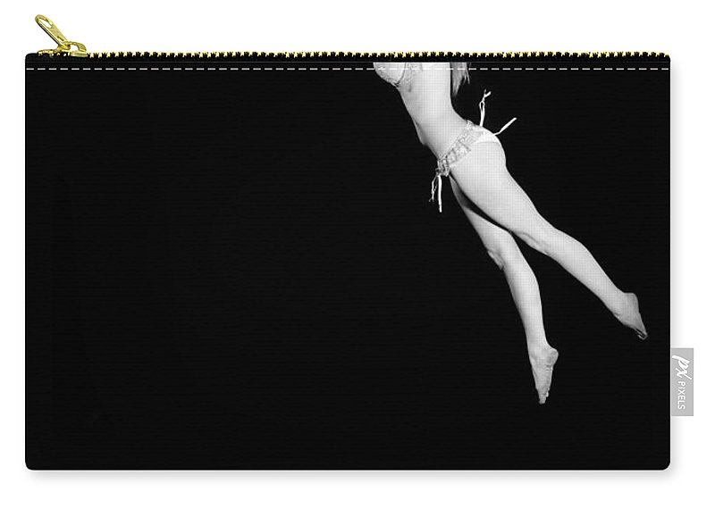 Leaping Carry-all Pouch featuring the photograph Leaping by Scott Sawyer