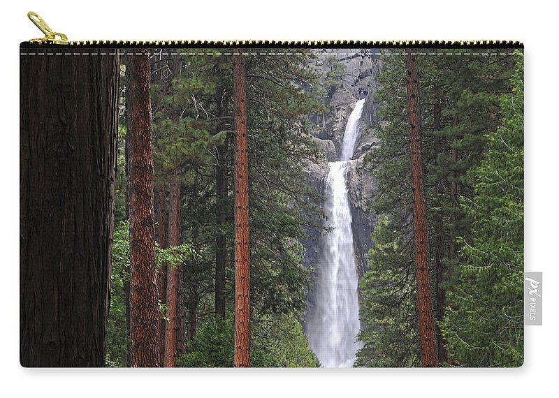 Yosemite Carry-all Pouch featuring the photograph Lower Yosemite Falls by Lynn Bauer