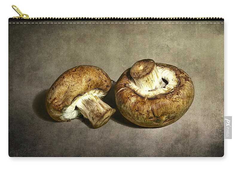 Art Carry-all Pouch featuring the photograph 2 Mushrooms by Randall Nyhof