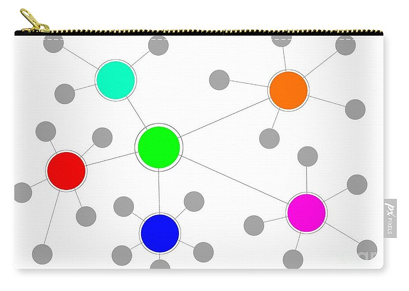 Network Carry-all Pouch featuring the digital art Network by Henrik Lehnerer