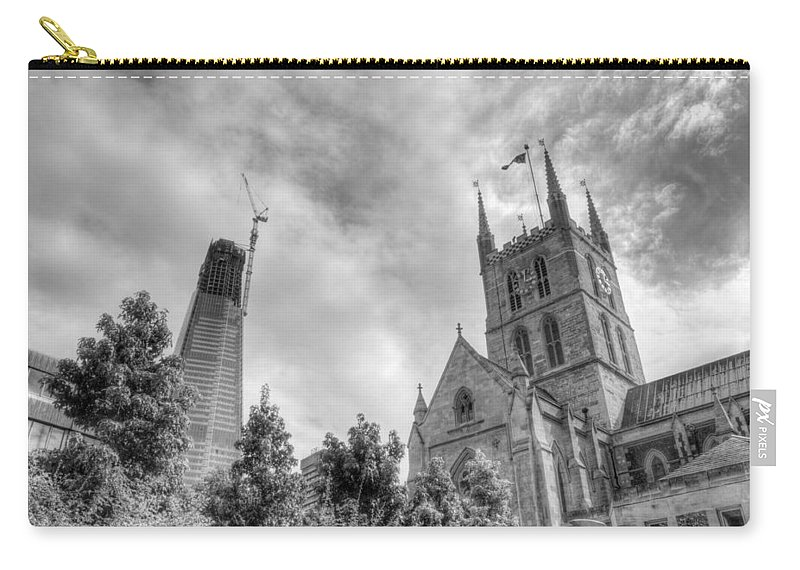 Shard Carry-all Pouch featuring the photograph New and Old by Chris Day