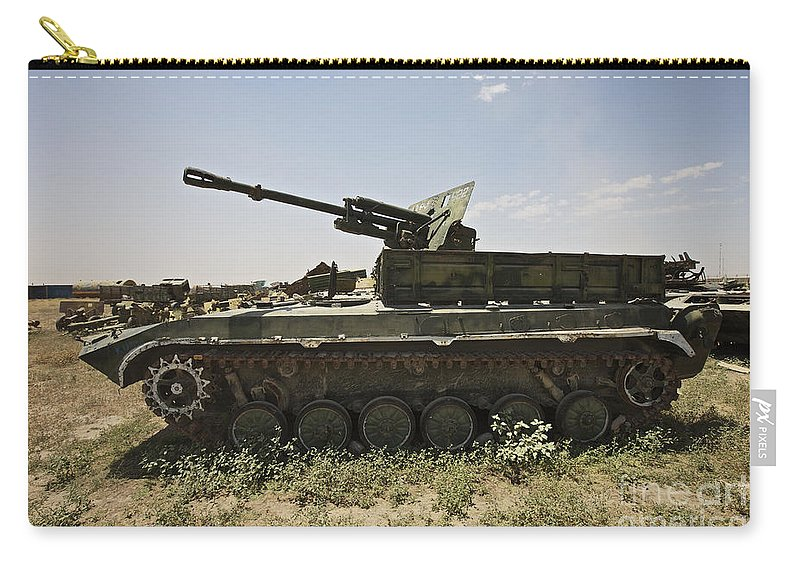 Army Carry-all Pouch featuring the photograph Old Russian Bmp-1 Infantry Fighting by Terry Moore