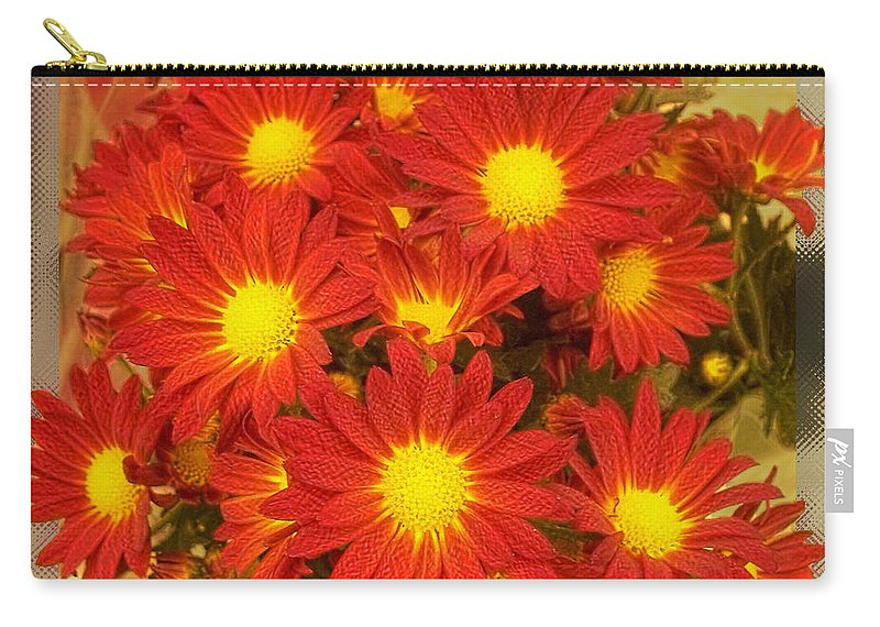 Nature Carry-all Pouch featuring the photograph Patterned Petels by Debbie Portwood