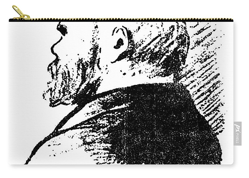 19th Century Carry-all Pouch featuring the photograph Paul Verlaine (1844-1896) by Granger