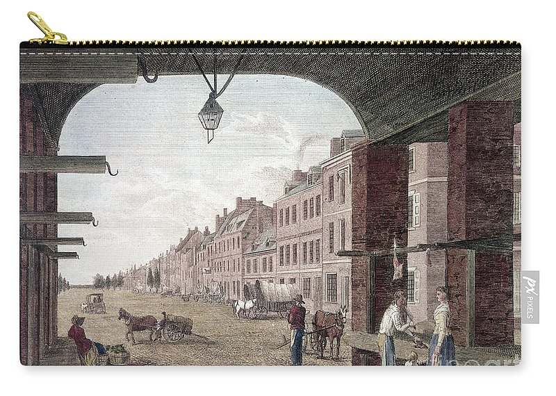 1797 Carry-all Pouch featuring the photograph Philadelphia: High Street by Granger