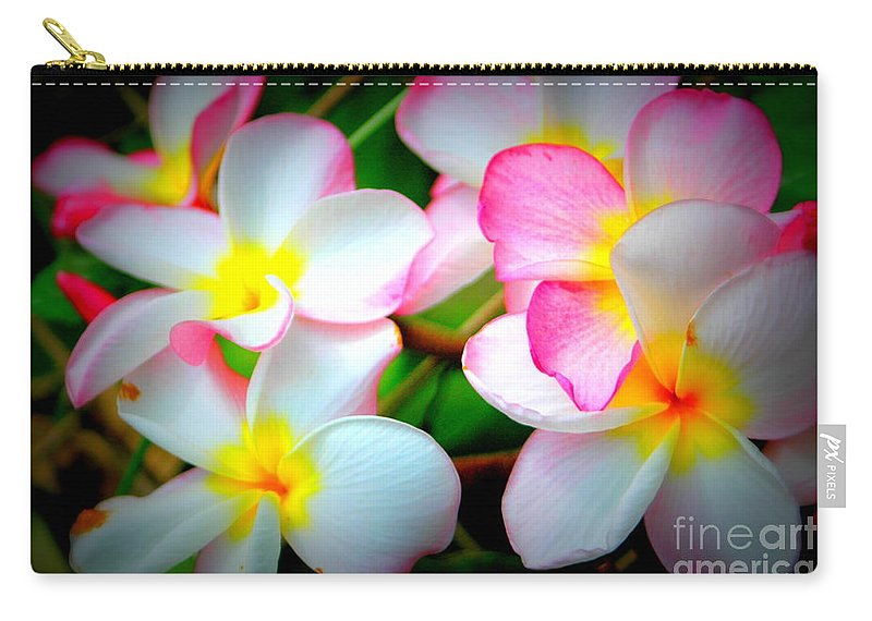 Plumeria Carry-all Pouch featuring the photograph Plumeria by Mark Gilman
