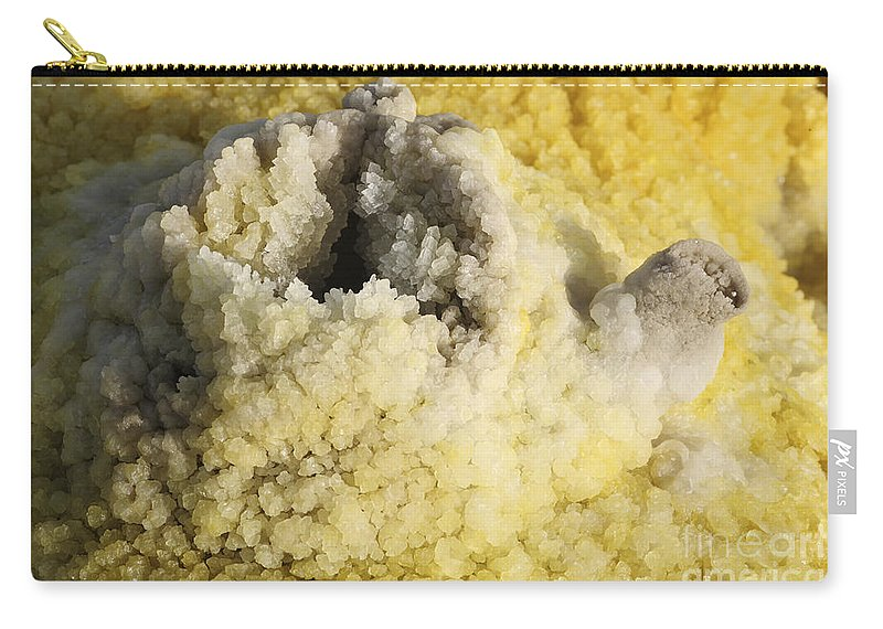 Full Frame Carry-all Pouch featuring the photograph Potassium Salt Deposits, Dallol by Richard Roscoe