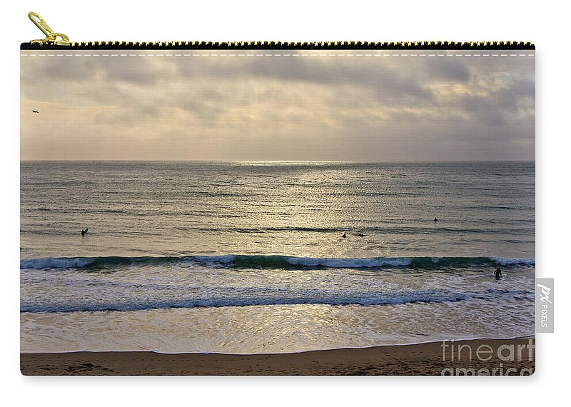 Praa Sands Cornwall Carry-all Pouch featuring the photograph Praa Sands by Brian Roscorla
