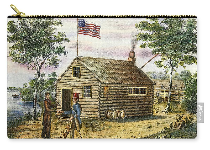 1840 Carry-all Pouch featuring the photograph Presidential Campaign, 1840 by Granger