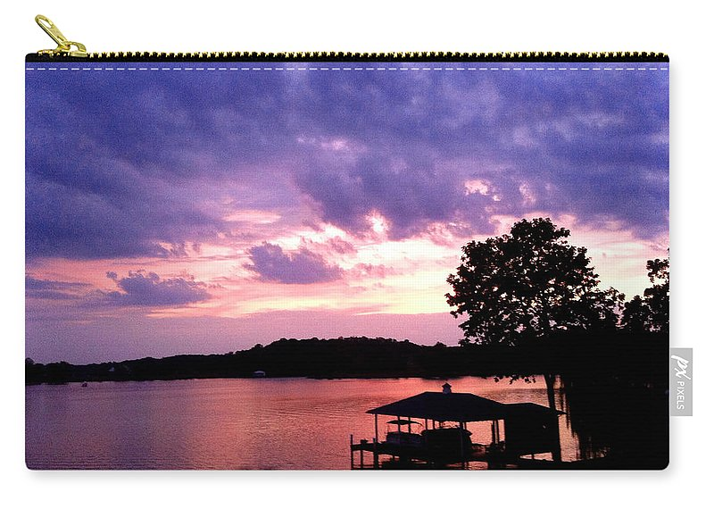 Sky Carry-all Pouch featuring the photograph Purple Haze by Jean Macaluso