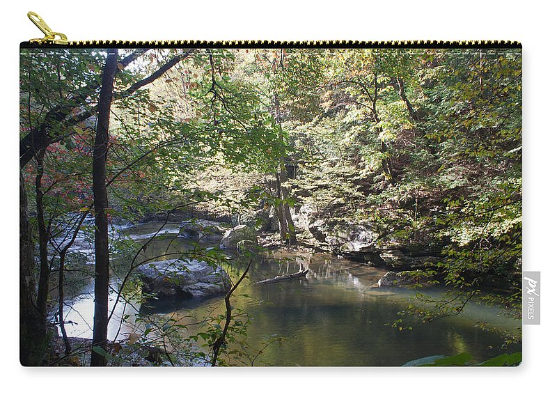 Richland Creek Carry-all Pouch featuring the photograph Richland Creek by David Troxel