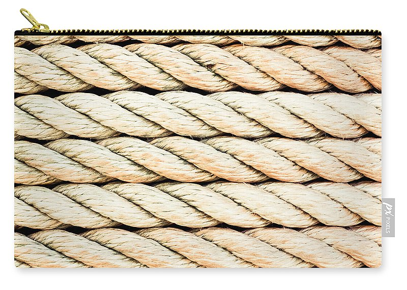 Background Carry-all Pouch featuring the photograph Rope by Tom Gowanlock