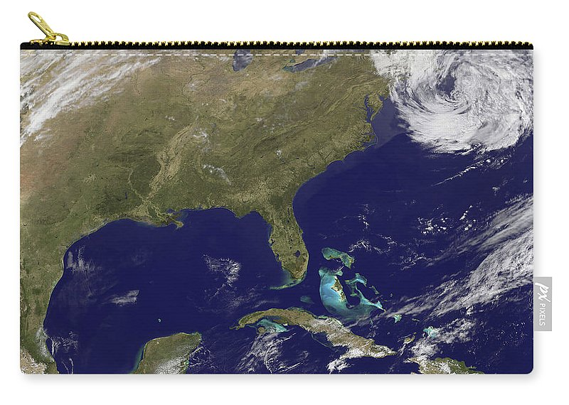 View From Space Carry-all Pouch featuring the photograph Satellite View Of The United States by Stocktrek Images