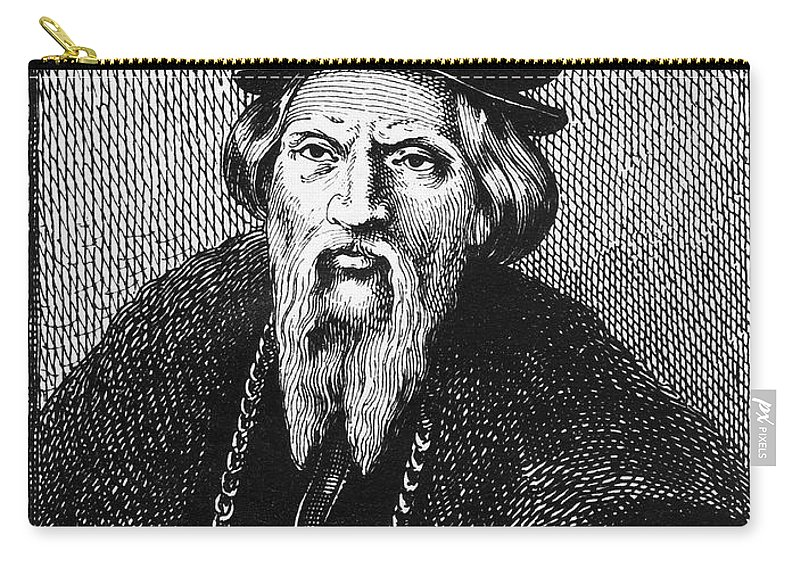 16th Century Carry-all Pouch featuring the photograph Sebastian Cabot by Granger